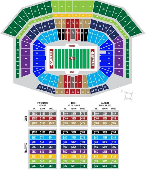 49ers stadium seating view looking for single 49ers tickets they re priced