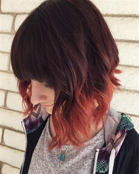 shirt haurcuts with diwd tips 20 dip dye hair ideas delight for all