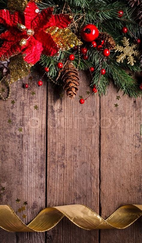 christmas border design  red  gold baubles stock photo colourbox