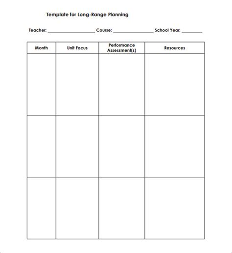 teacher schedule template 9 free sle exle format