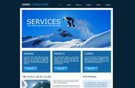 Consulting Website Templates Simple Website Templates For Beginners