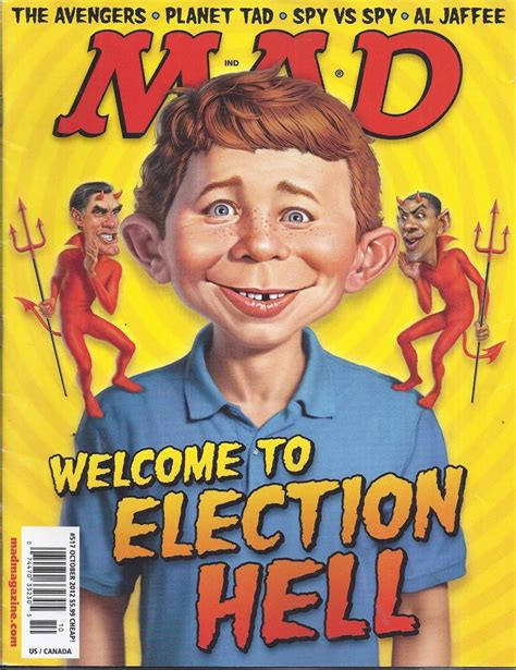 mad magazine mad magazine presidential election the avengers planet tad