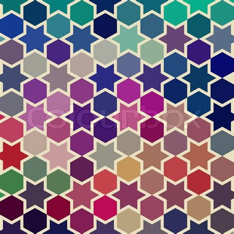 shape repeating pattern vector background of repeating geometric stars geometric