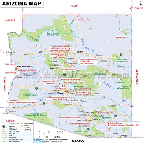 map of and arizona arizona map for free and use the map of arizona