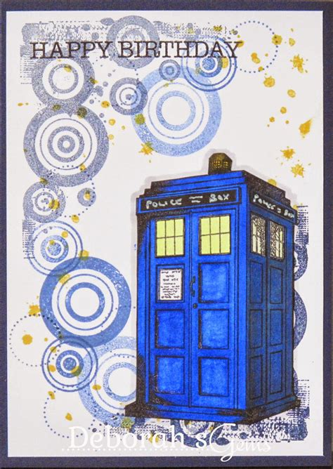 Dr Who Birthday Card Deborah S Gems Twins Birthday Cards