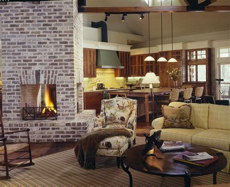 Living Room Brick Fireplace by Brick Fireplaces Living Room Farmhouse With Hearth Brick