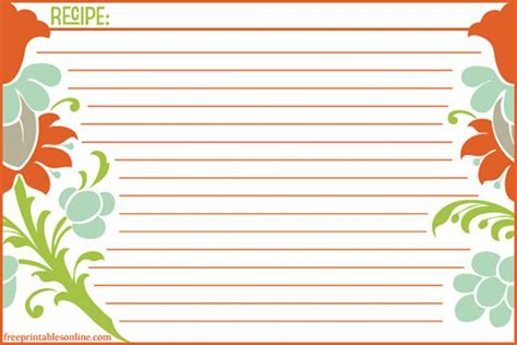 free recipe card templates help me find clean and modern recipe card templates the