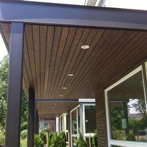 awning  wood underside porche de entrada techos de