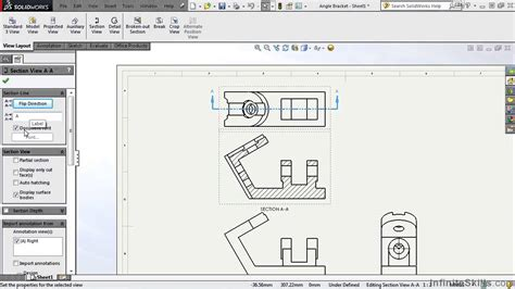 tutorial solidworks toolbox solidworks drawing tools tutorial section view youtube