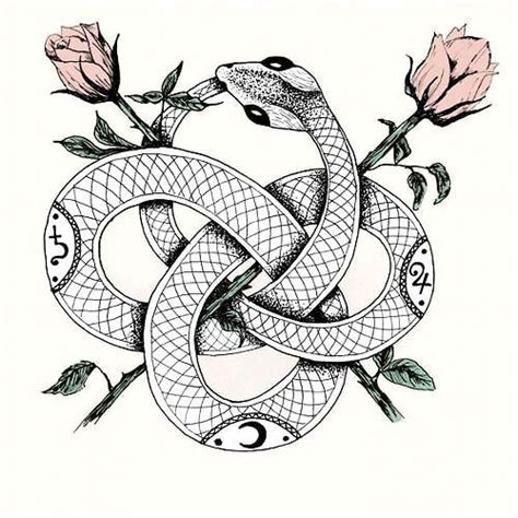 snake and rose tattoo meaning beautiful snake with roses design