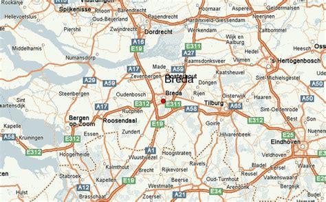 breda netherlands on map breda netherlands map