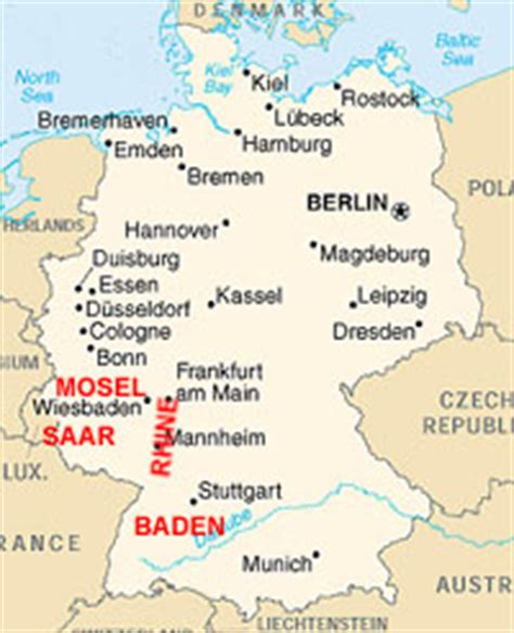 labeled map of germany wine page randy s world