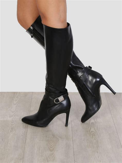 38 Louis Vuitton Shoes louis vuitton aparte black leather high heel boots 38