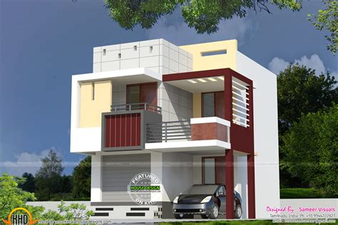 very small home plans small houses house elevation and 3d rendering on pinterest