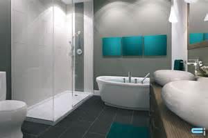 salle de bain turquoise et noir chaios