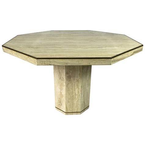 travertine dining room table travertine marble octagonal center or dining table with