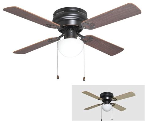 Traditional Ceiling Fan With Light Rubbed Bronze 42 Quot Hugger Ceiling Fan W Light Kit