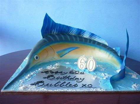 Marlin Square marlin fish shaped from 12 square mud cake paul