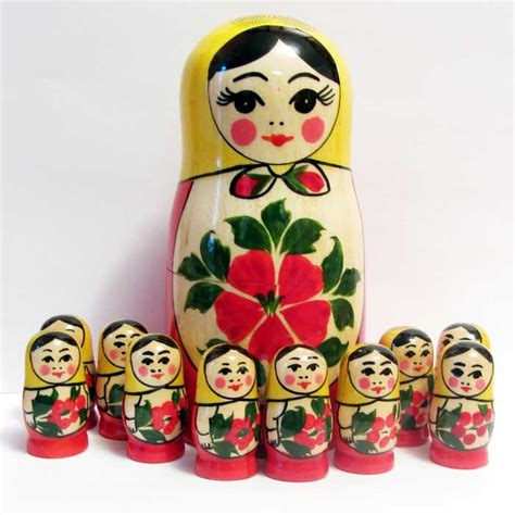 Home Made Decoration Things Matryoshka Counting Set Russian Nesting Dolls