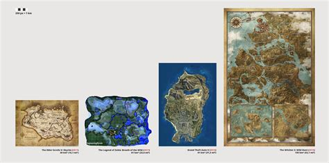 legend of zelda map size zelda breath of the wild fair map comparison gaming