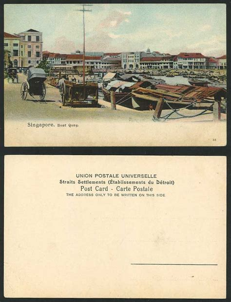 boat auctions singapore singapore boat quay old colour postcard native boats