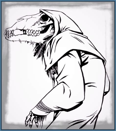 imagenes de monstruos faciles para dibujar imagenes de dibujos de miedo para portada archivos