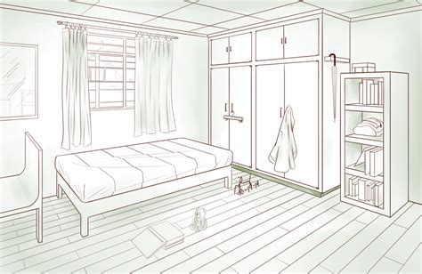 one point perspective bedroom drawings bedroom two point perspective by pixelizedfate on deviantart