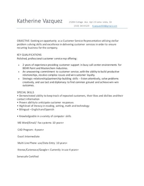 culinary student resume