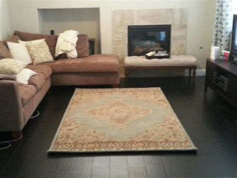 how big should rug be in living room is this rug small