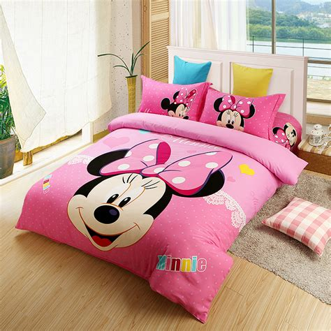 pink minnie mouse comforter set twin full queen king size