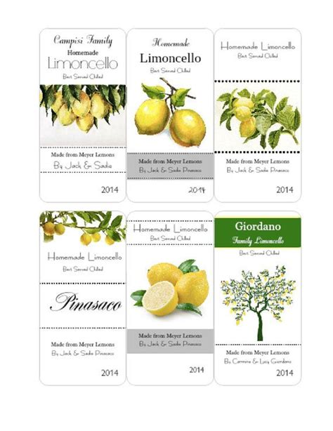 printable limoncello tags 36 best images about limoncello labels on pinterest