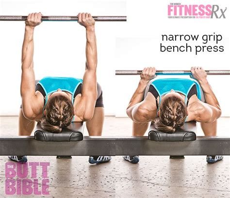 narrow grip bench presses narrow grip bench press chest workouts pinterest