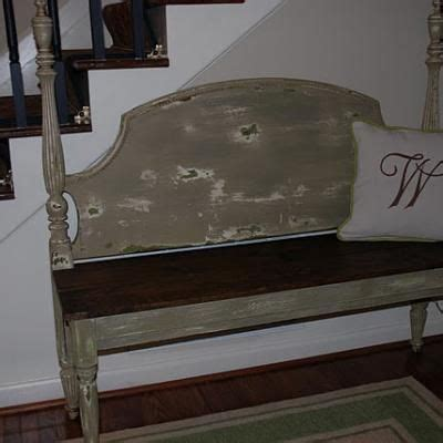 how to make a bench from a headboard 17 best images about benches made from headboards on