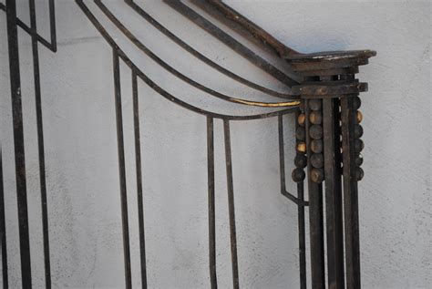 1930s banister check stair railing wrought iron art deco 1930 staircase