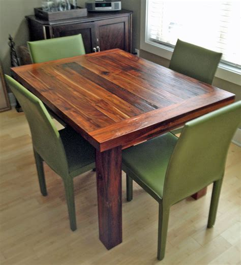 teak dining table 36 quot x 48 quot 2 quot thick modern dining