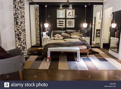 ikea bedroom displays paris france display in modern diy housewares store ikea stock photo royalty free
