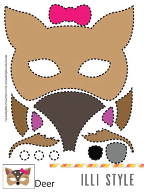 Printable Deer Mask Template | kids archives page 3 of 6 illistyle