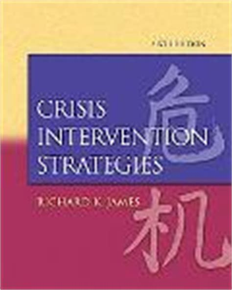crisis intervention strategies crisis intervention strategies rent 9780495100263