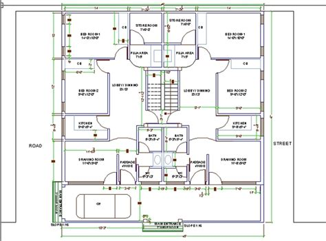 Autocad For Home Design House Design For Two Families Autocad 3d Cad Model