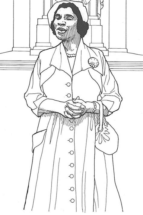Pin Coloring Page Harriet Tubman On Pinterest Harriet Tubman Coloring Page