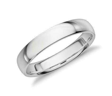 Comfort Wedding Bands by Mid Weight Comfort Fit Wedding Band In Platinum 4mm
