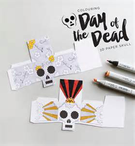 day of dead skull template colouring 3d paper skulls day of the dead