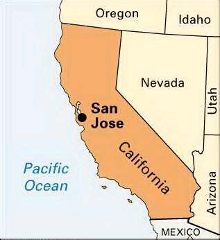 san jose location map san jose location encyclopedia children s