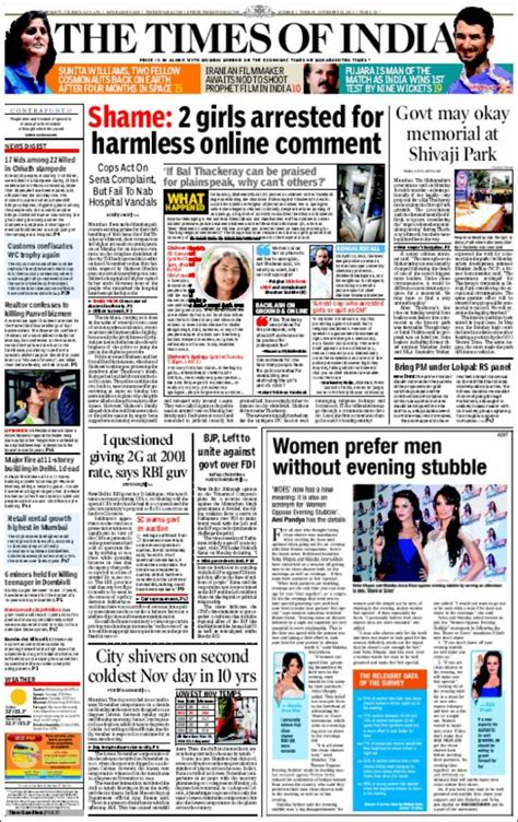 newspaper layout in india newspaper the times of india india newspapers in india