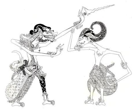 Wayang Golek Buto buto cakil cakil in the duel javanese puppet wayang the o jays