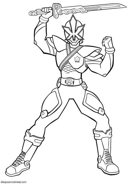 dibujos colorear dibujos de personajes de power rangers samurai para colorear parte 2