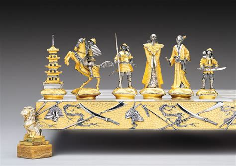Chess Sets by Historical Gold And Silver Chess Sets By Piero Benzoni