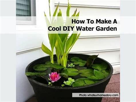 how to build container garden how to make a cool diy water garden
