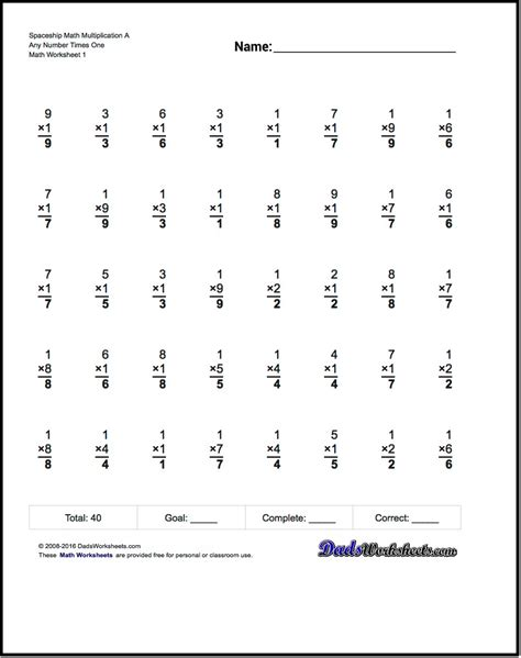 worksheets math free spaceship a v free printable math