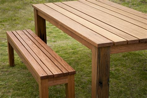 wooden outdoor table with bench seats custom outdoor dining table settings bombora custom